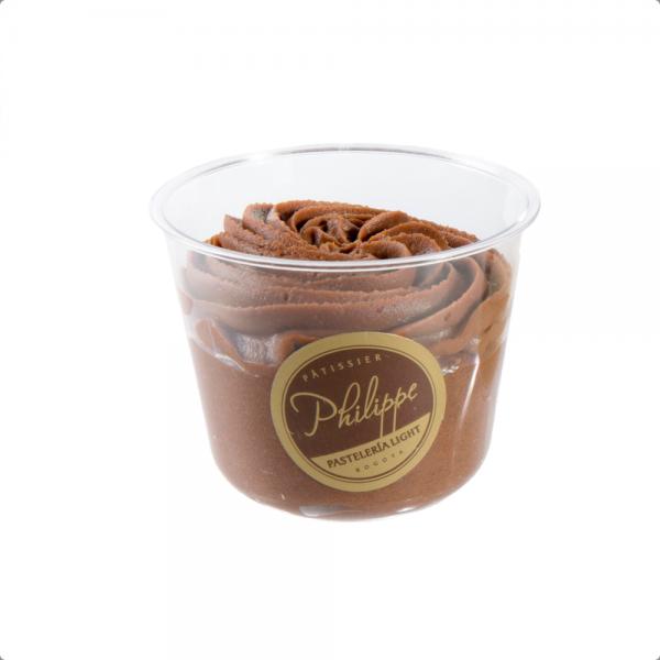 Mousse de Chocolate vaso - panaderia y pasteleria Philippe saludable sin azucar
