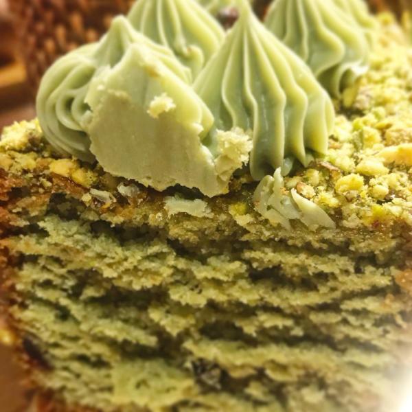 Cake-de-Pistacho-sin-azúcar-Philippe-Panaderia-y-Pasteleria-saludable